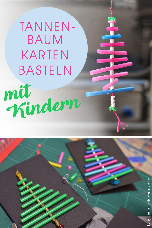 Bastelanleitung grafische Weihnachtskarten: Advents-Basteln mit Schulkindern