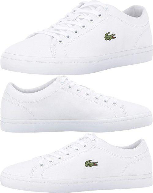 632cba442d Lacoste Women's Straightset BL 2, White, 7 M US | Lacoste Womens Shoes