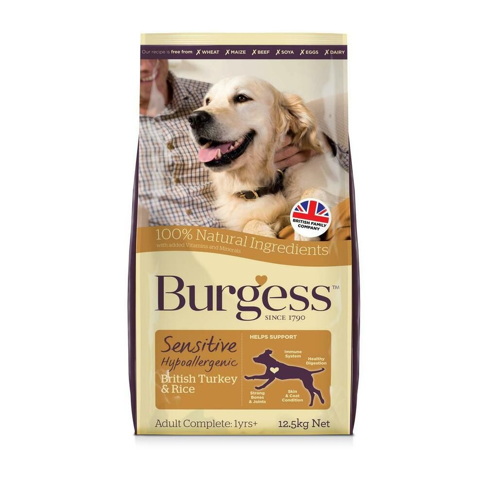 Details About Burgess Sensitive Hypoallergenic Dog Dry Food Adult