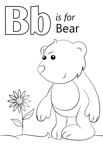 Letter B Is For Bear Coloring Page From Letter B Category Select From 26396 Printable Crafts Of Abc Coloring Pages Bear Coloring Pages Alphabet Coloring Pages
