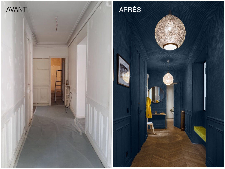 couleur bleu pour le couloir des enfants id es pour la. Black Bedroom Furniture Sets. Home Design Ideas