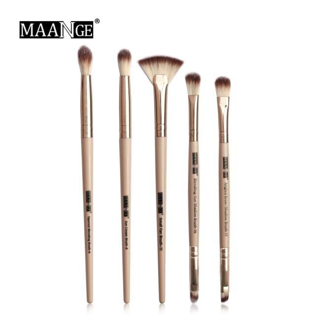 Photo of MAANGE Pro 3/5/12 Pcs Makeup Brushes Set Eyeshadow Eyeliner Eyelash Eyebrow Brush Beauty Make up Blending Tools Maquiagem – 5pcs Skin / China