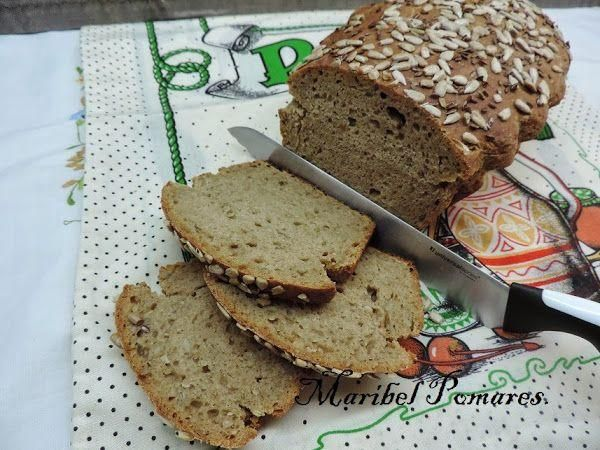 Pan de trigo y centeno con semillas de girasol y linaza para preparar con Thermomix