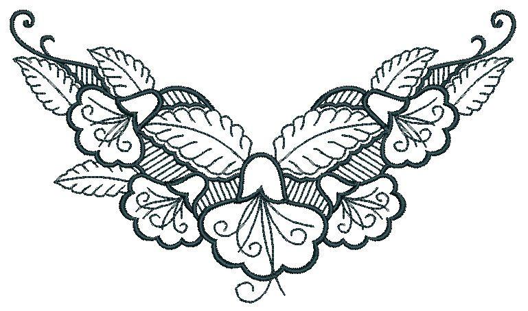 Unique Neckline Embroidery Design 189 | Free Embroidery Designs ...