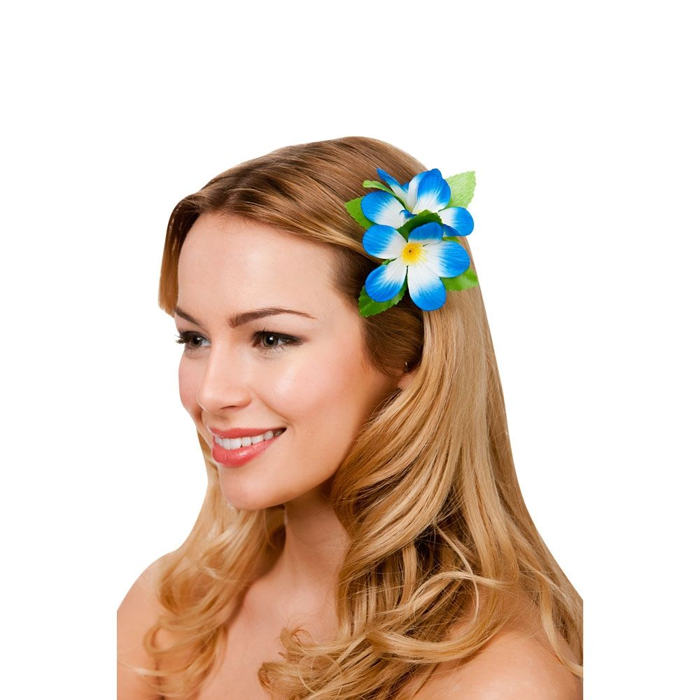 Hawaii flower hair clip royal blue fancy dress costumes kids hawaii flower hair clip royal blue fancy dress costumes kids mens ladies izmirmasajfo Image collections