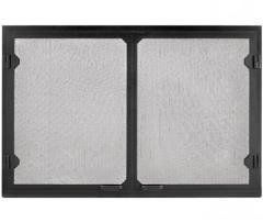 Majestic Fireplaces Gv42bk Grand Vista Cabinet Style Mesh Doors Black Mesh Door Cabinet Styles Majestic Fireplace