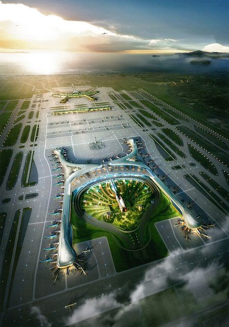 Incheon International Airport New Terminal Architecture Airport Design Sustainable City