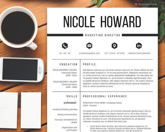 Modern #Resume #Template / #Resume Template Instant Download - Modern Resume Templates