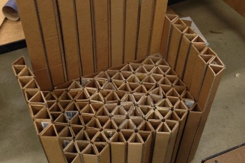 Build A Strong Cardboard Structure Cardboard Chair Cardboard