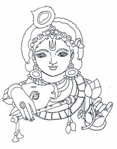 ancient indians - blog about hindu puranas and religion ... - Baby Krishna Images Coloring Pages