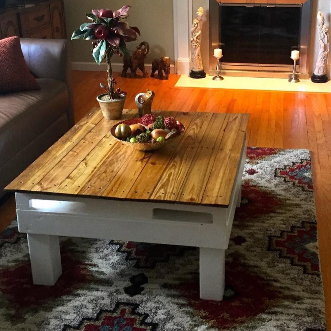 Golden Oak Pallet Coffee Table Made In Usa Golden Oak Pallet