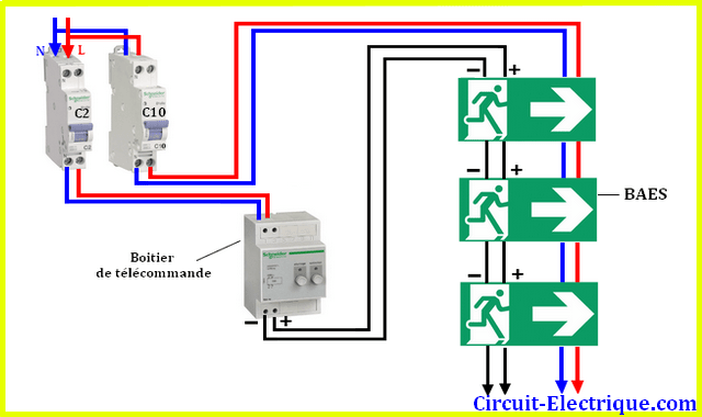 circuit electrique schema branchement
