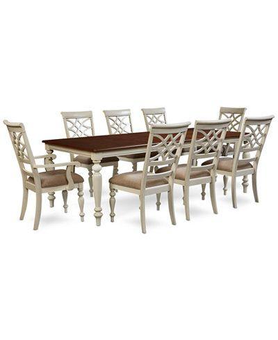 Windward 9Pcdining Set Dining Table 6 Side Chairs & 2 Arm Magnificent 9 Pc Dining Room Sets Review