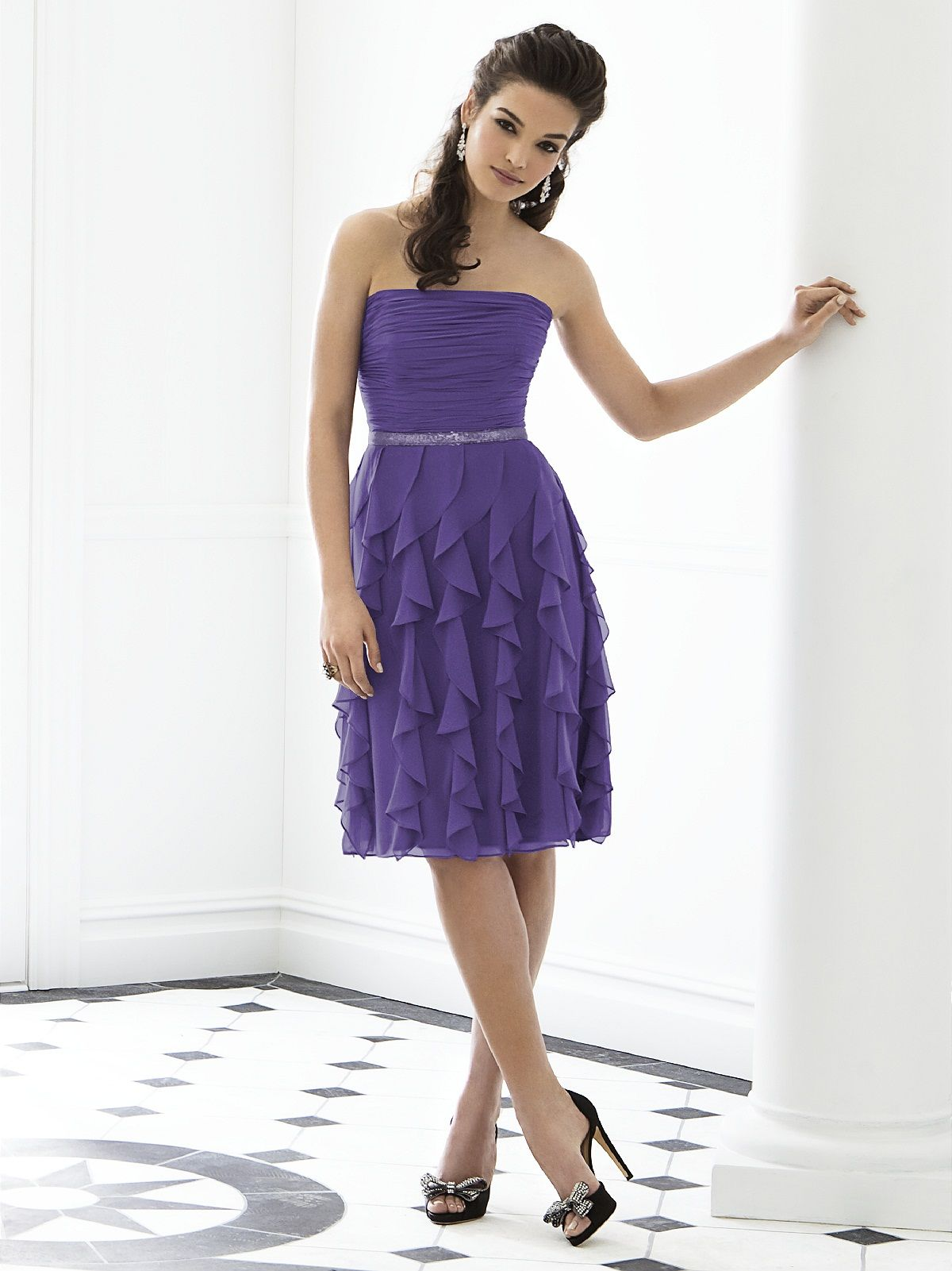 Such a fun short bridesmaids dress! After Six by The Dessy ...
