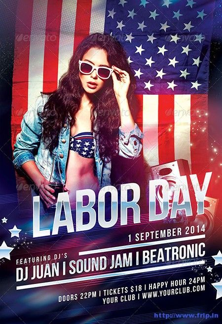 Labor Day Flyer For Business