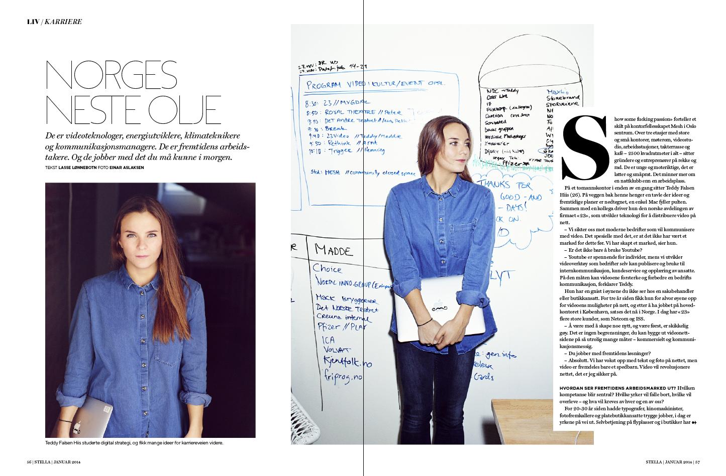 Stella. #magazine #layout #editorial Foto: Einar Aslaksen