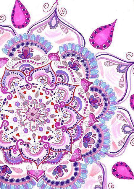 Azul colores mandala morado rosa mandala fondos de - Colores para mandalas ...