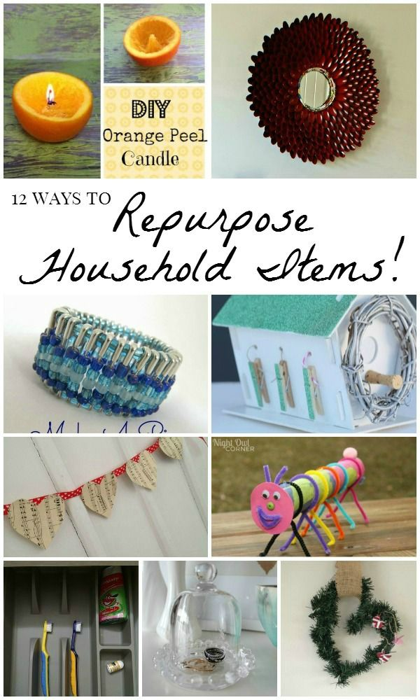 12 Creative Ways To Repurpose Household Items Diy Projects With Household Items Recycled Bottle Crafts Upcycled Crafts