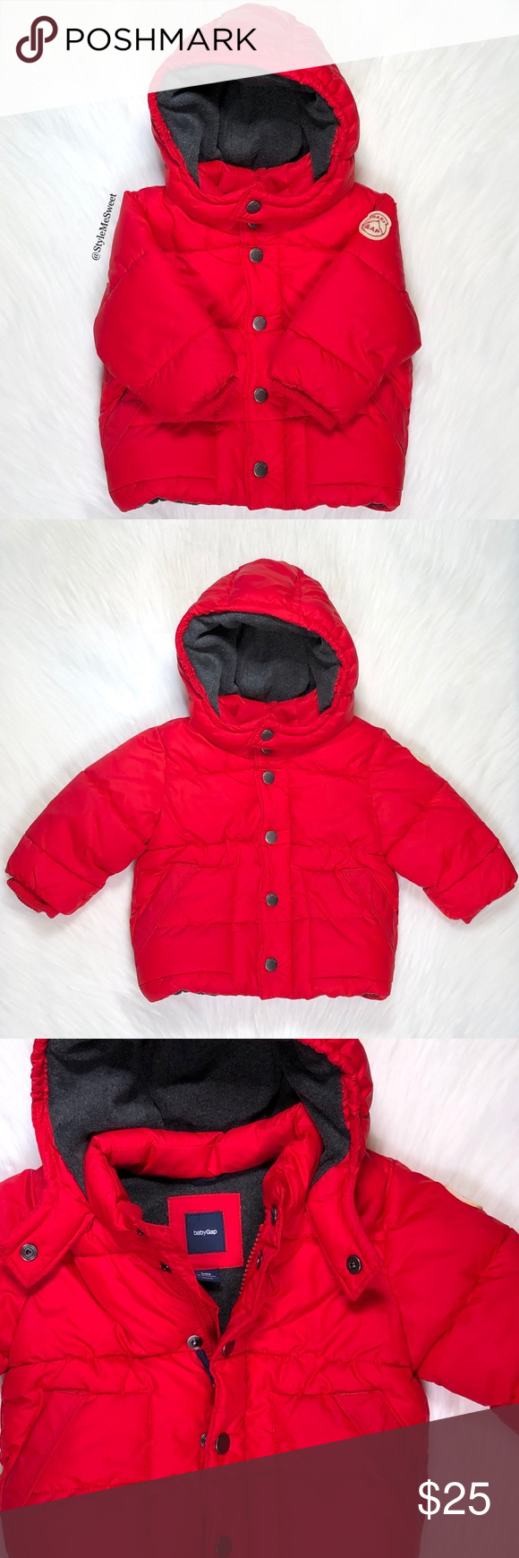 Babygap Red Hooded Puffer Coat Red Puffer Jacket Puffer Coat Hooded Jacket [ 1740 x 580 Pixel ]
