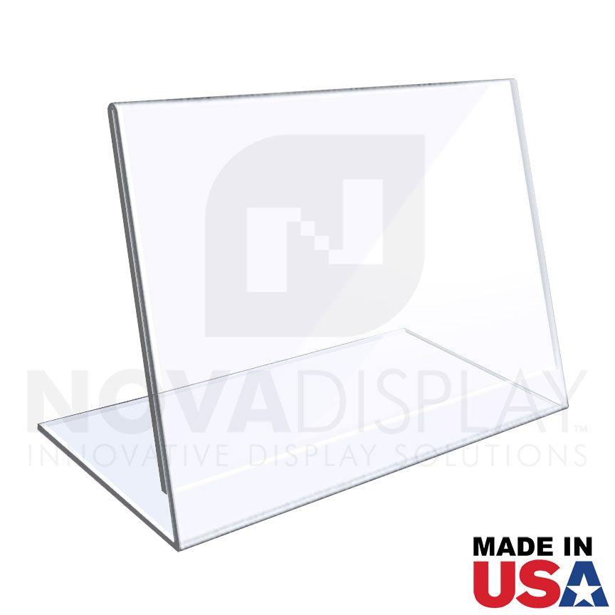 1 8 Crystal Clear Acrylic Sign Holder Slant Back Display Easel Acrylic Sign Display Easel Clear Acrylic