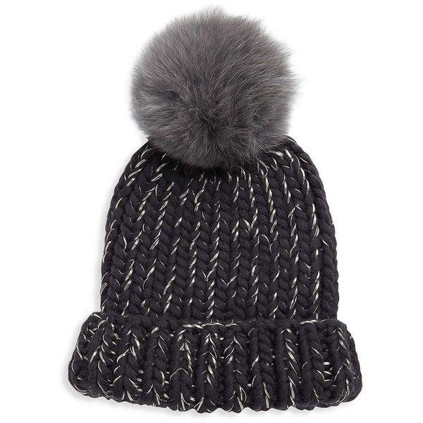 686627174 Eugenia Kim Rain Fox Fur Pom Hat ($285) ❤ liked on Polyvore ...