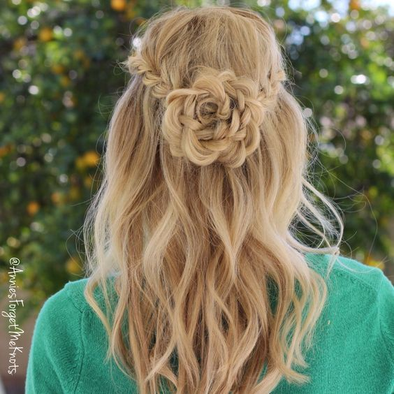 Flower Girl Hairstyles For Long Curly Hair Styles 2d