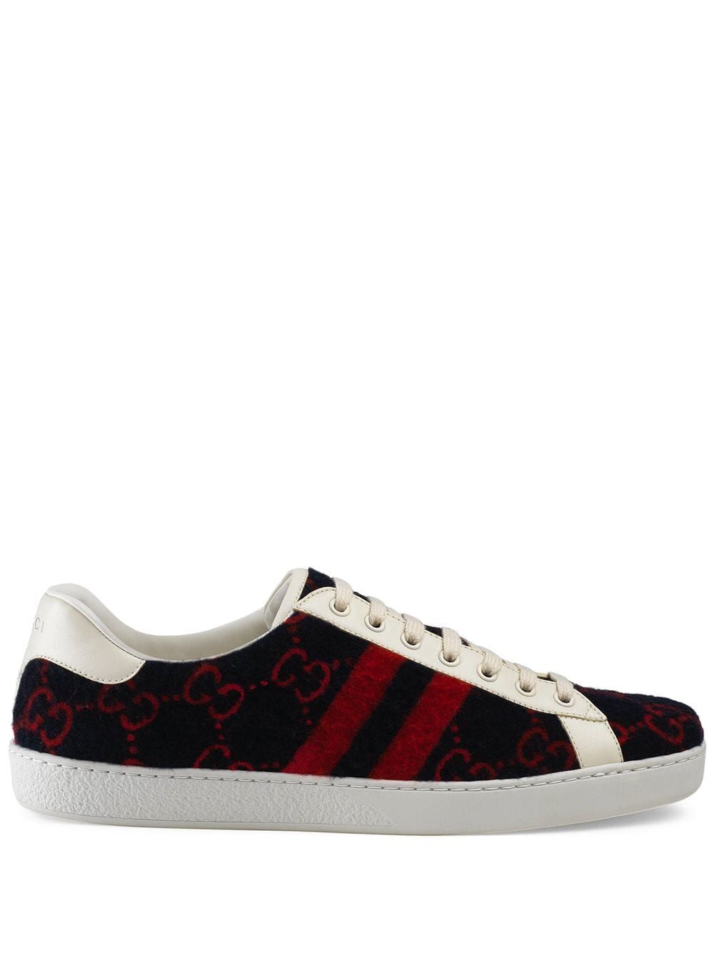 1ea9ed016d0 GUCCI GUCCI ACE GG WOOL SNEAKERS - BLUE.  gucci  shoes