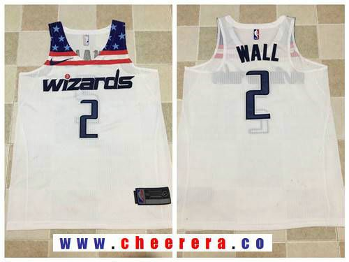 6aa41648eb54 Men s Washington Wizards  2 John Wall White 2017-2018 Nike Swingman  Stitched NBA Jersey