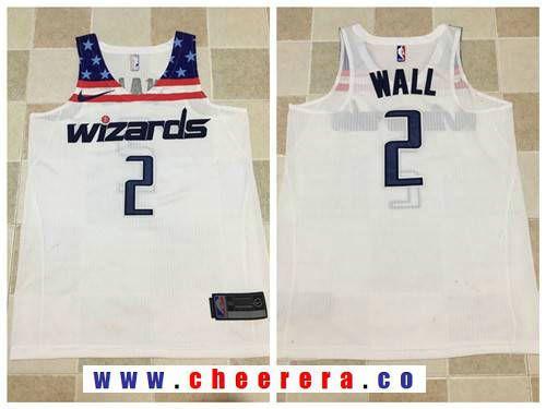 Men s Washington Wizards  2 John Wall White 2017-2018 Nike Swingman  Stitched NBA Jersey 3bcbe51e2