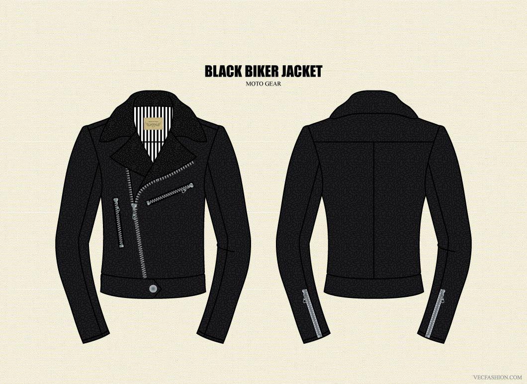 Men Black Leather Biker Jacket