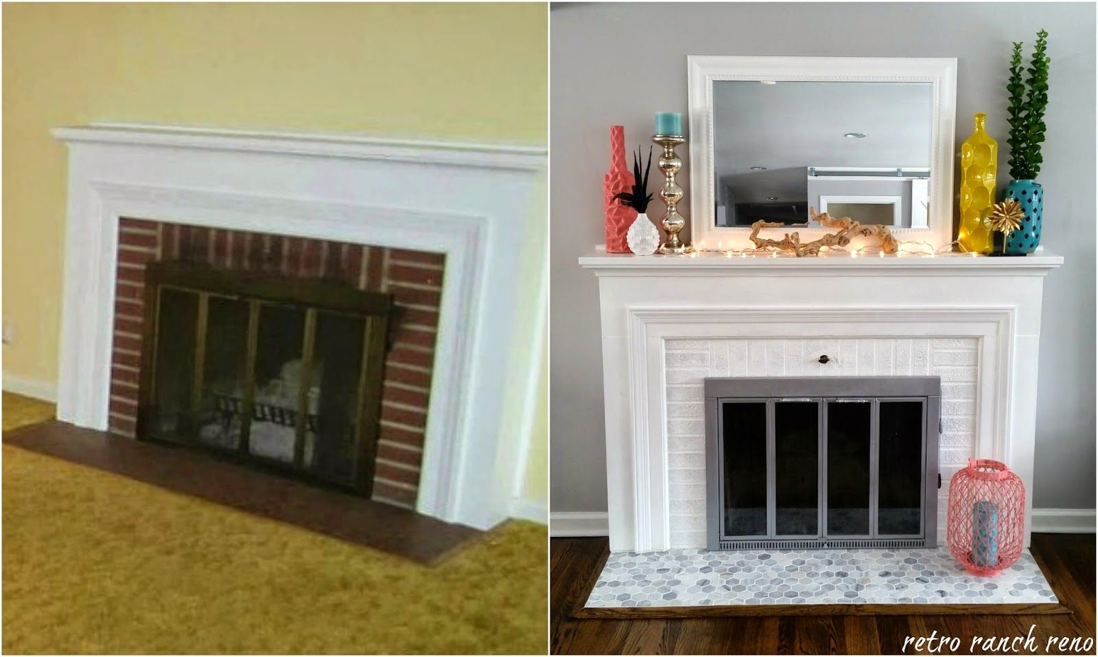 Our Rancher Before After The Fireplace Home Renovation