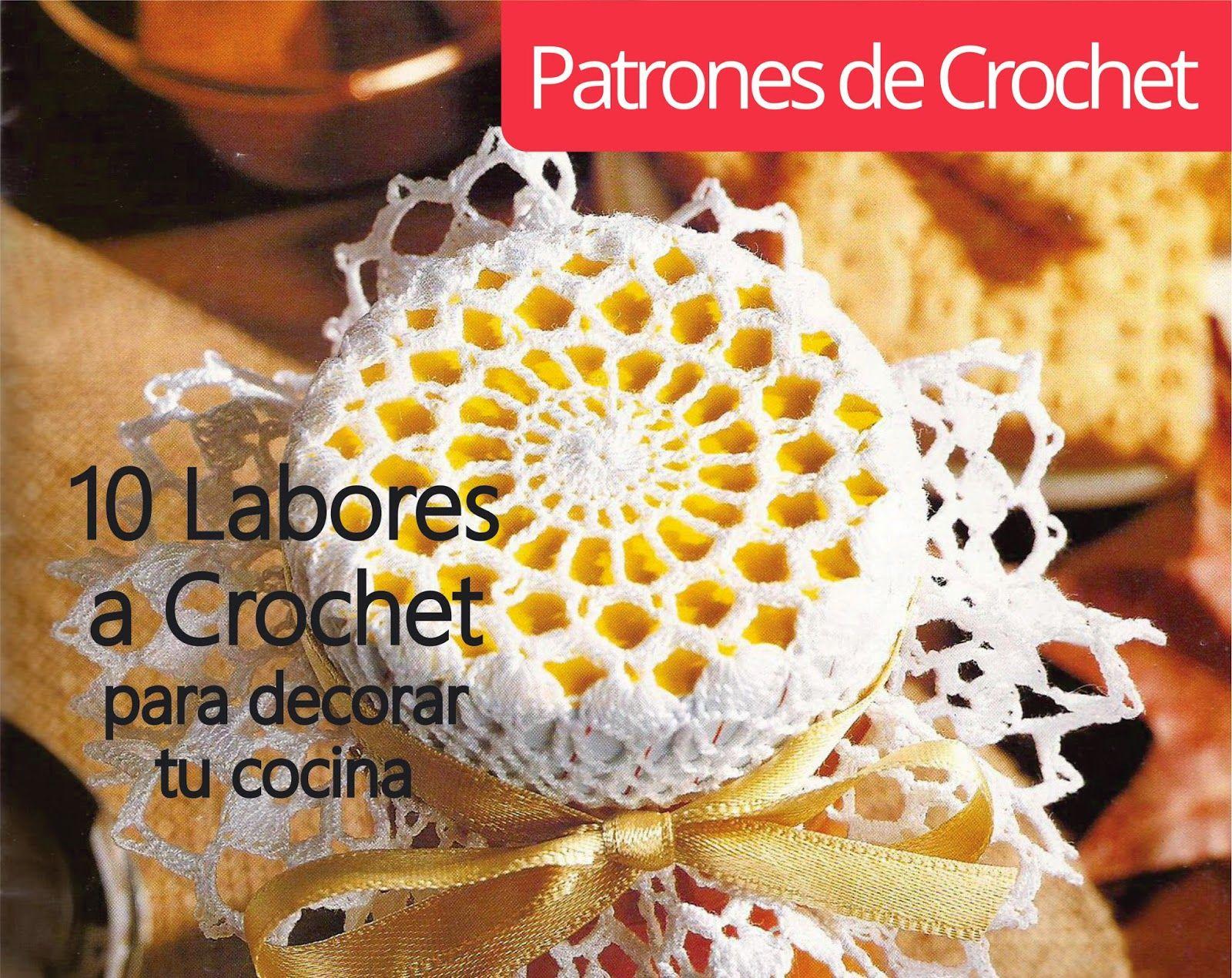 10 Labores a Crochet para adornar tu cocina ~ Patrones de Crochet ...