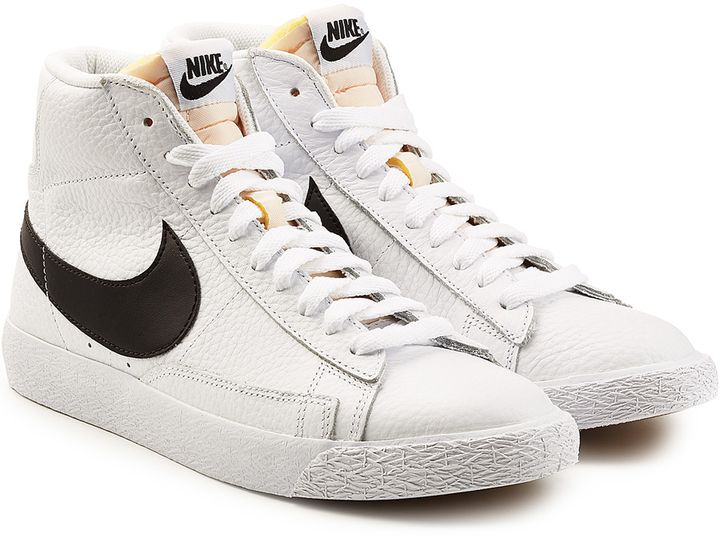 white high top nike blazers