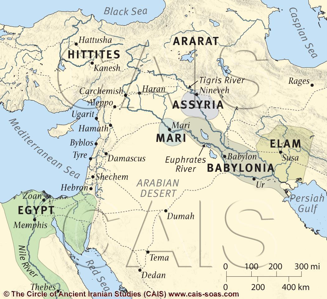 Middle Elamite Period Bc Map Of Elamite