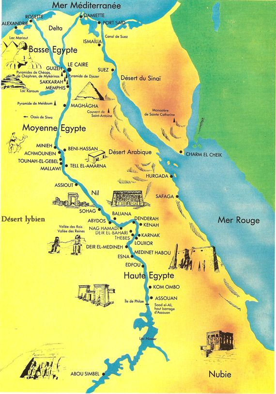 carte de l egypte 5xx Error (avec images) | Le caire, Pyramide egypte, Carte