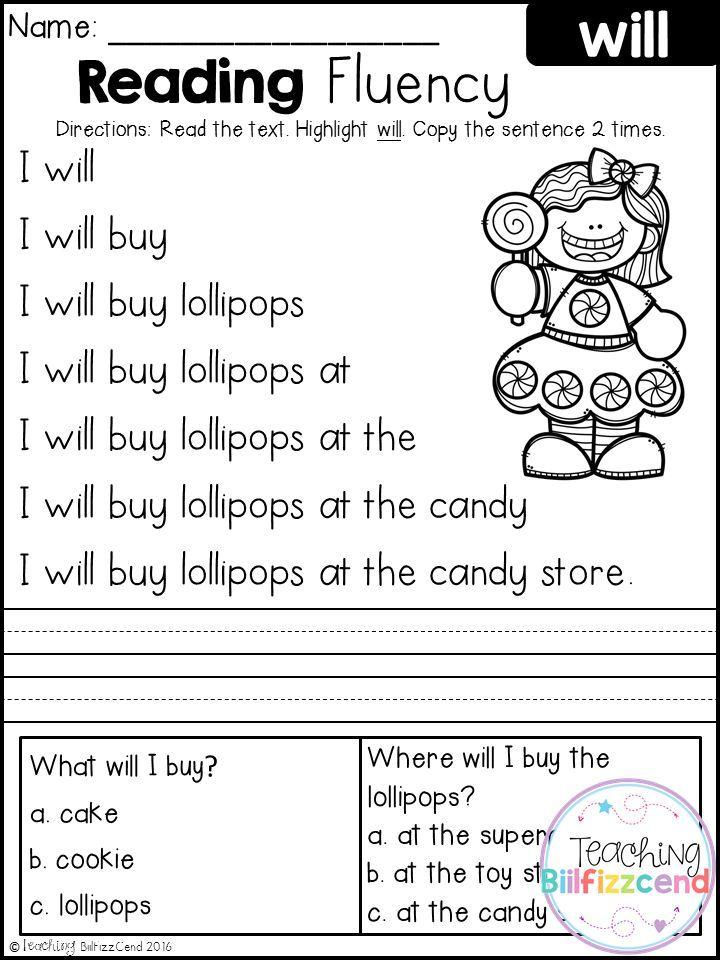 Free kindergarten reading fluency and comprehension 1st grade free kindergarten reading fluency and comprehension ibookread Download