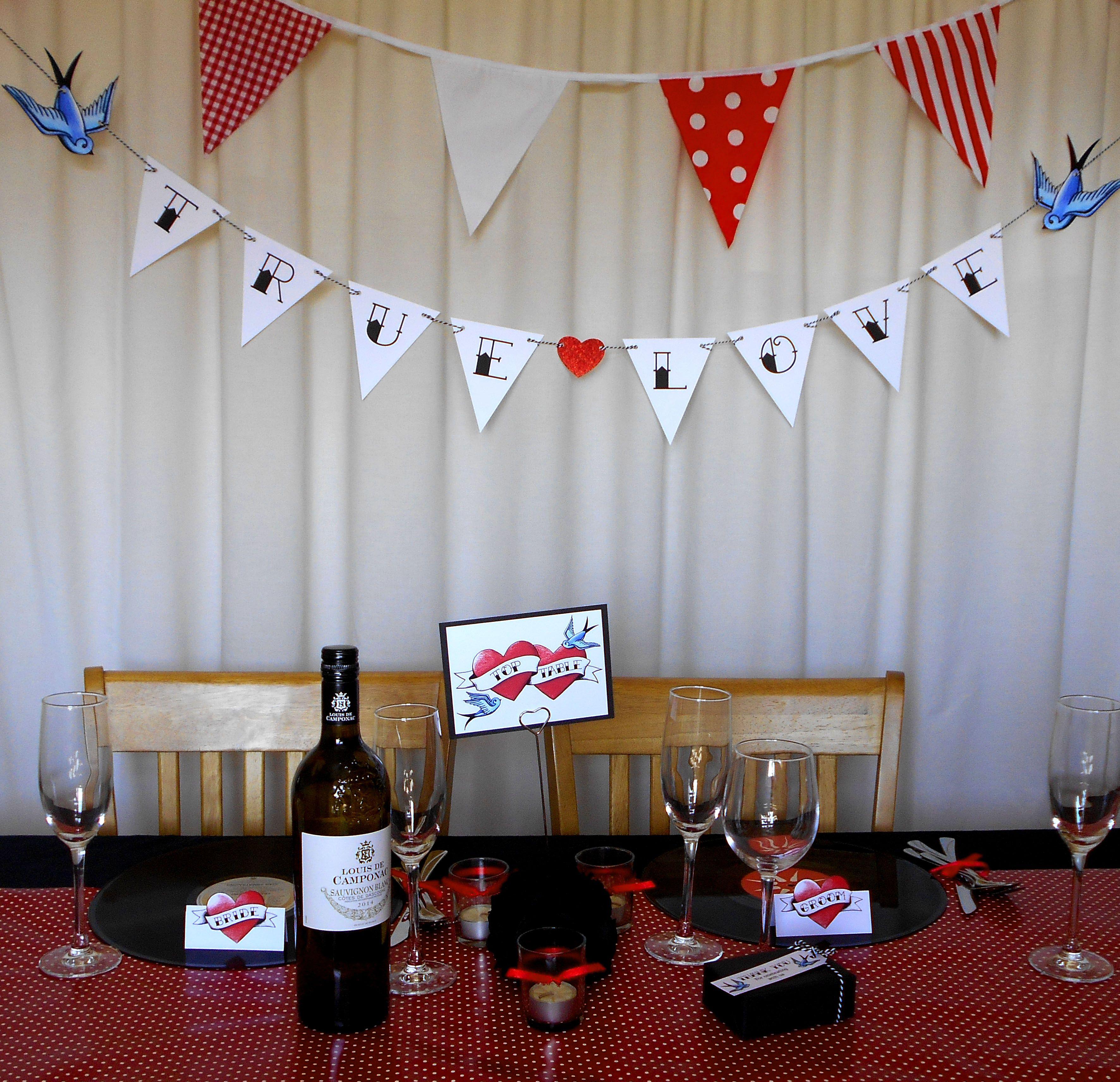 Rockabilly Wedding Ideas: Tattoo Decorations Rockabilly Wedding Rock N Roll From Rae