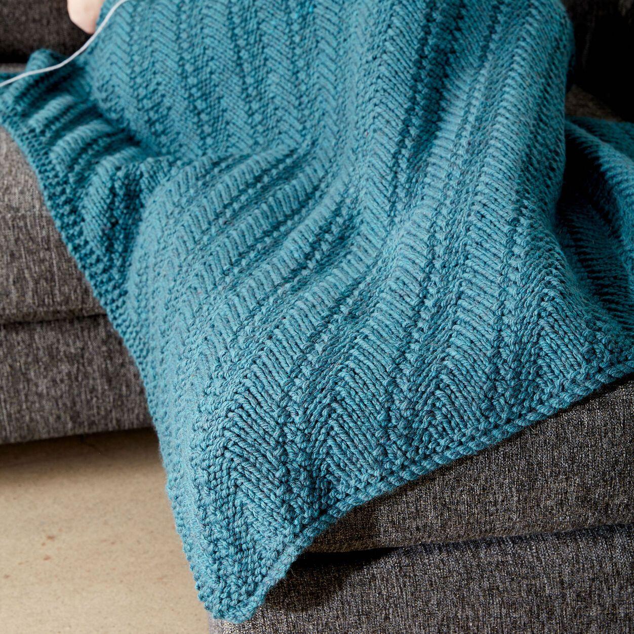 Bernat Reversible Knit Lap Blanket   Yarnspirations   Knit ...