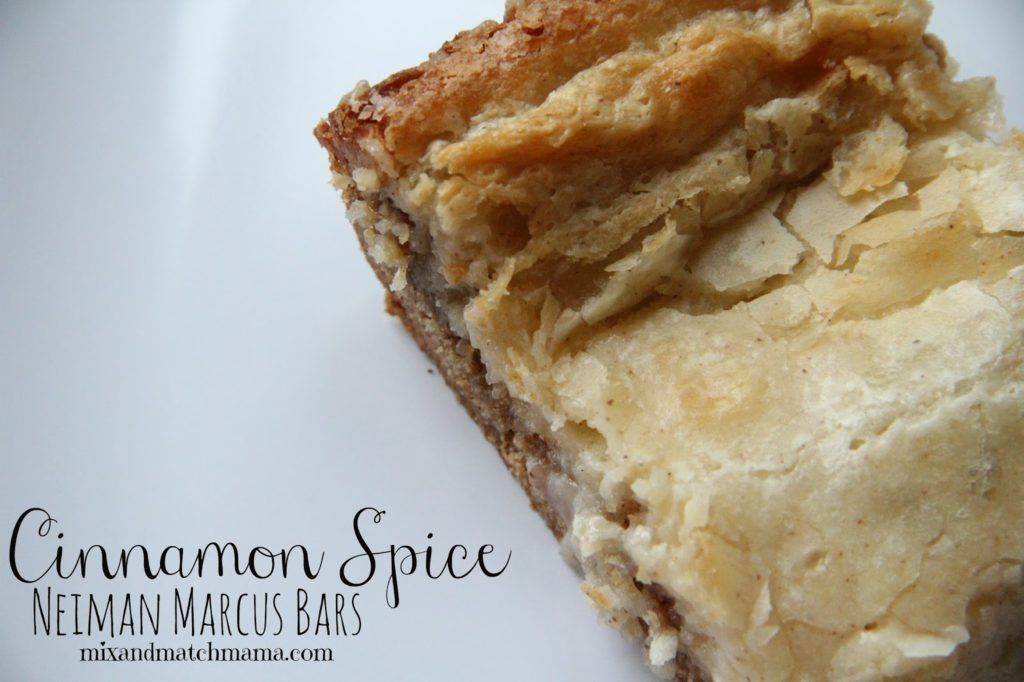 Spice Neiman Marcus Bars Recipe A little cinnamon, a little spice and a whole lot of yumminess. This is one...A little cinnamon, a little spice and a whole lot of yumminess. This is one...