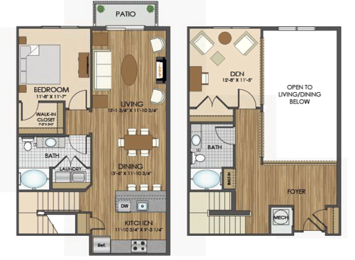 View Our Spacious Floor Plans At Hidden Creek Apartments In Gaithersburg Md Loft House Design Renting A House Apartment