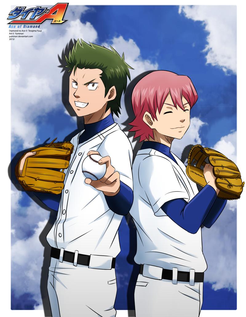 Kuramochi and Ryousuke  [speedpaint] by Yuminari.deviantart.com on @DeviantArt