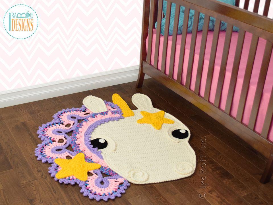 Sophia the Starry Unicorn Rug PDF Crochet Pattern | Teppich häkeln ...