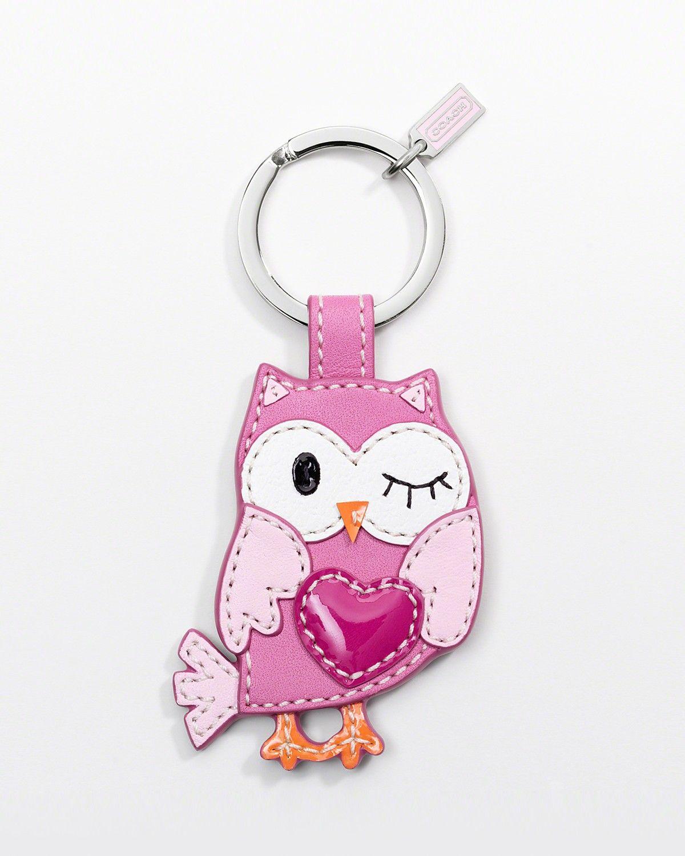 Pink Owl Keychain