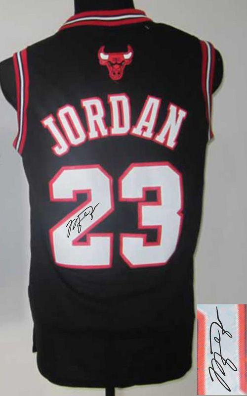 buy online 24ffc fba20 Men's NBA Chicago Bulls #23 Michael Jordan Black Signature ...