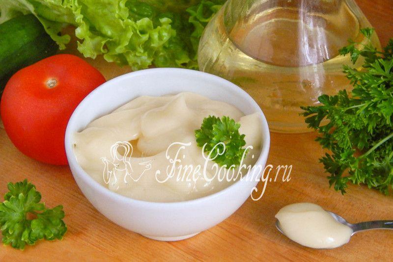 Домашний постный майонез - рецепт с фото