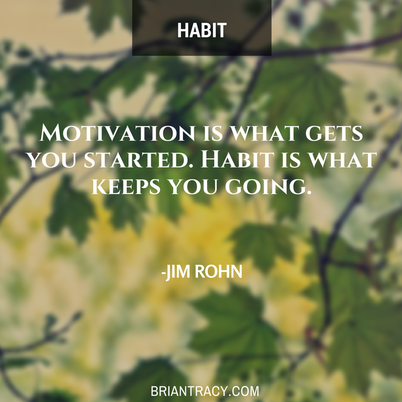 Remember, #habit is what keeps you going. #motivation