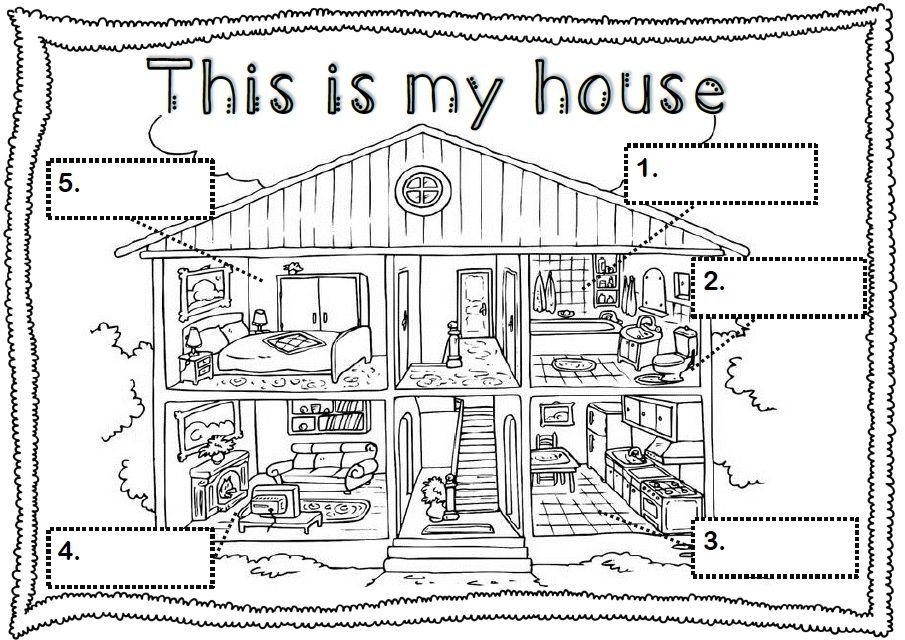 Les Pieces De La Maison En Anglais La Maison Et Les Meubles House