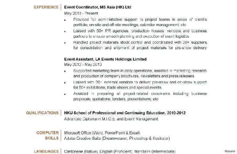 Event coordinator job description template resume planner