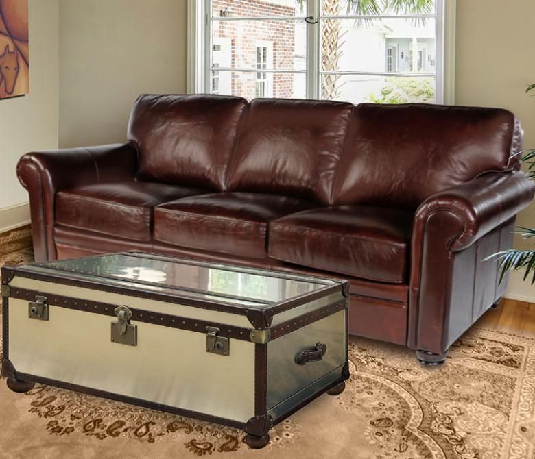 Lexington 100% Leather Sofa Set @ $1499 From Leather Furniture Expo.  Coordinating Loveseat,