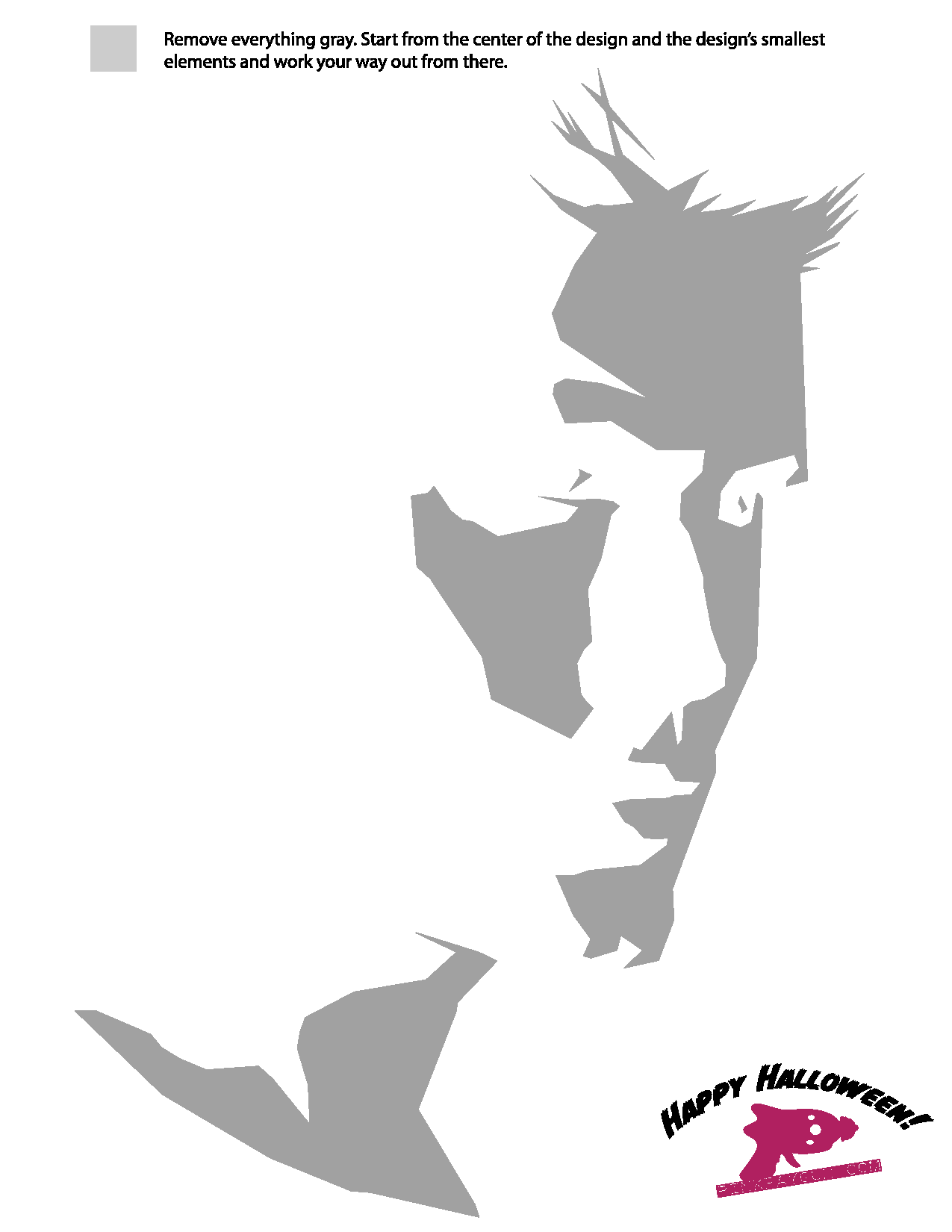 Supernatural: Dean Winchester Stencil. Did this last year for a ...